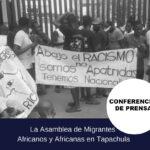 [COMUNICADO] Asamblea de migrantes Africanos y Africanas en Tapachula. 29 de Agosto 2019