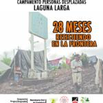 [COMUNICADO] A 28 meses de desplazamiento forzado, Laguna Larga continúa exigiendo retorno inmediato